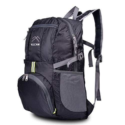 Fordable Ultra Lightweight Backpack VLLCAN Large 35LPackable Travel Hiking Daypack