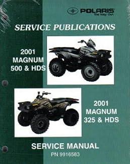 9916583 2001 polaris magnum 325 500 atv service manual manufacturer rh amazon com 1999 polaris magnum 500 service manual 1999 polaris magnum 500 service manual