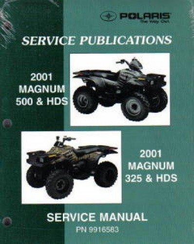 9916583 2001 polaris magnum 325 500 atv service manual manufacturer rh amazon com 2001 325 Red 2001 325 4 Door