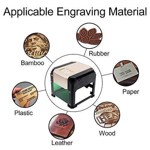 Vogvigo Laser Engraver Printer DIY Logo Laser Engraver Laser Engraving Machine Mini Desktop Laser Engraver Machine (3000W) by Vogvigo (Image #2)