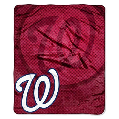(MLB Washington Nationals Retro Plush Raschel Throw, 50