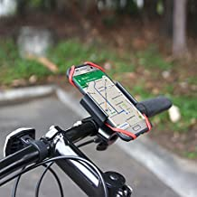 Heavy Duty Rugged Bike or Motorcycle Handlebar Mount with Metal Clamp fits Samsung Galaxy Note 4 with Otterbox Defender Case on it.