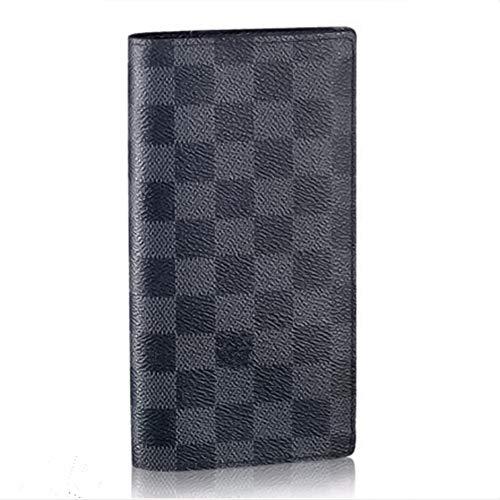 Men's Classic Monogram Canvas Long Wallet with Card Slot Internal Zipper 10 x 19 x 2cm