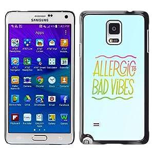 // CIUDAD ACTUAL MECELL // SmartPhone funda carcasa PC duro plástico fresco imagen para Samsung Galaxy Note 4 /// Buena música energía positividad Vibráfono mal cotizacion ///