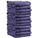 Mega Mover Heavy-Duty Moving Blankets | 7 pounds each (85 pounds per dozen) | 72 inch x 80 inch | Blue Furniture Pads | 12 Blankets