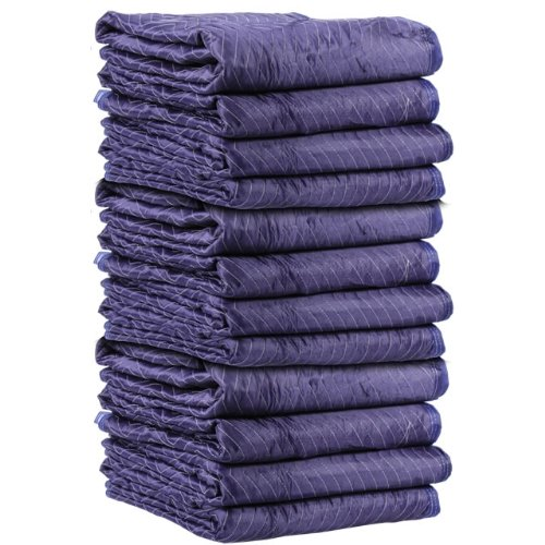 Moving Blanket (12-pack) 72'' X 80'' US Cargo Control - Mega Mover (85 Lbs/dozen, Blue/Light Blue) by US Cargo Control