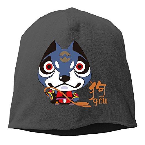 WellShopping Chinese Dog Year Element Design Plain Skullies Beanie Dance toboggan  Hat Unisex Cap 6a2a82edcc1