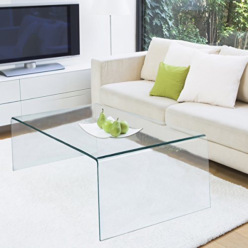 Tangkula Glass Coffee Table International Occasion Tea Table (White Glass Top Coffee Table)
