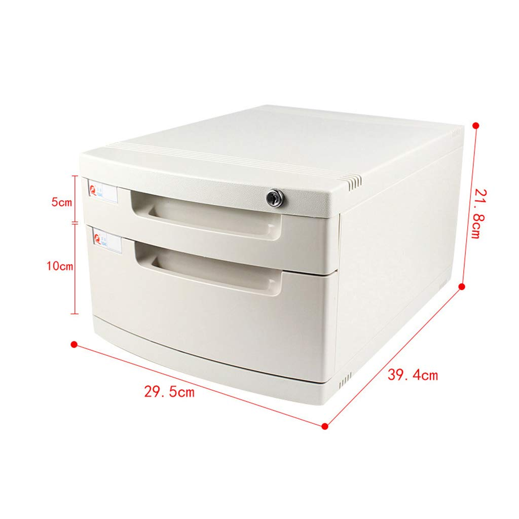File Cabinet, Desktop Extended Drawer Office Organizer (Plastic) 29.539.421.8CM (Size : 2 Layers)