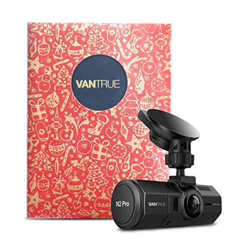 Vantrue N2 Pro Uber Dual 1080P Dash Cam, Single front 1440P 30fps 1080P 60fps Dash Cam, Front and Inside Car Cam with Gift Box Infrared Night Vision, 24Hs Parking Mode, Optional GPS, Support 256GB Max