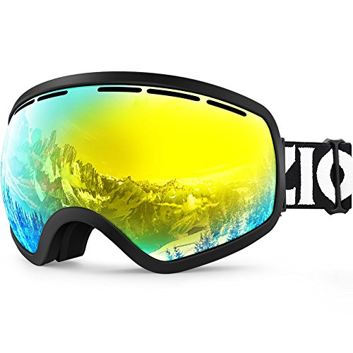 ZIONOR X10 Ski Snowboard Snow Goggles OTG for Men Women Youth Anti-fog UV Protection Helmet - Green At Stores Hills