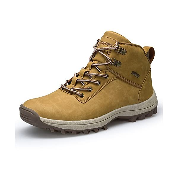 Men's Women's Snow Boots Winter Outdoor Hiking Shoes High Top Lace-Up Trekking Sneakers