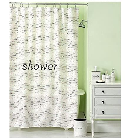 . Amazon com  Martha Stewart Shower Curtain  Wordplay  Home   Kitchen