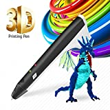 3D Pen Kids Drawing Doodling 3D Printing Pen Pencil Printer Intelligent PCL PLA Filament Refills Best Gift for Teens and Childs,Black Color