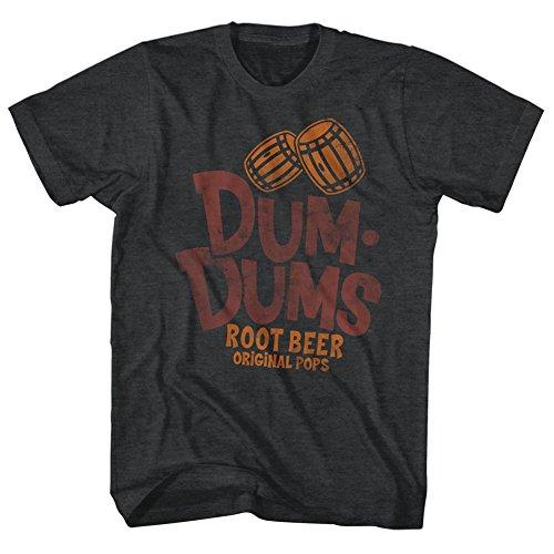 Dum Dums Root Beer Flavor Original Pops Sugar Candy Lollipop Adult T-Shirt 3X Black ()