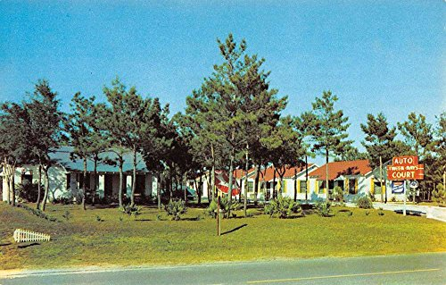 Panama City Florida Tween Bays Court Street View Vintage Postcard - Stores Panama City Florida In