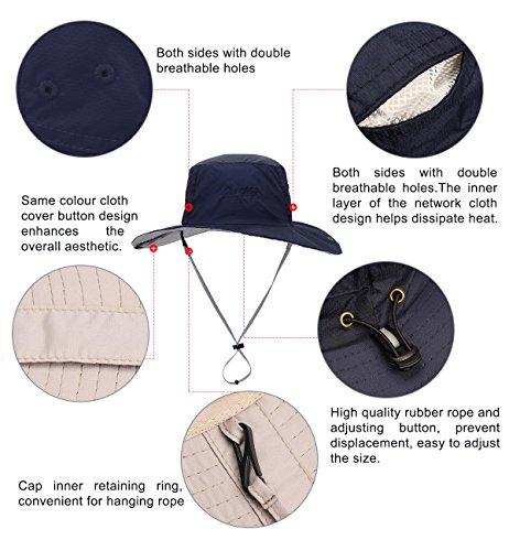 Sumolux Hat Light Anti UV Visor Outdoor Beach Travel Hats for Men ... 50f5040034de