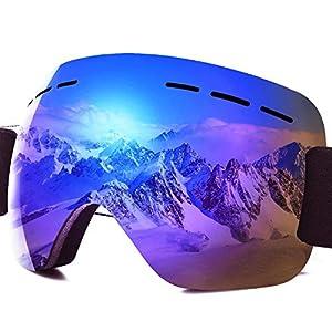 PHYLES Lunettes de Ski, Masques Snowboard pour Adultes et Enfants – Protection UVA 100%