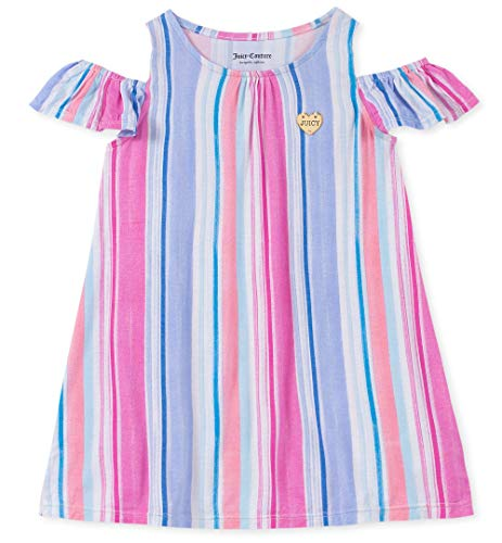 Juicy Couture Girls' Big Summer Dress, Purple/Pink Stripes 12 -