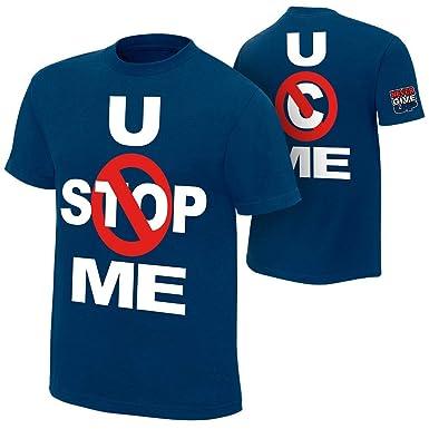 32c7da30d Step Shoes WWE T Shirt for Men Cotton Half Sleeve Blue Tshirt_John Cena  Tshirt (Small