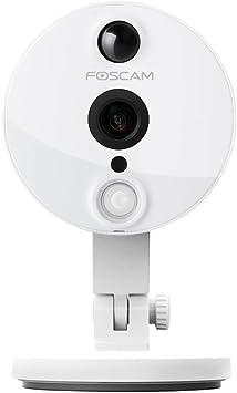 Opinión sobre Foscam C2/W - Cámara IP de vigilancia de interior, 2 MP, función P2P, 1080p, 115º gran angular, WiFi, color blanco