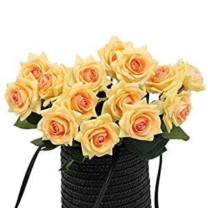 N YONGNUO Latex Moisturizing Roses of Real Touch Natural Artificial Flowers Roses Realistic Color for Wedding/Home Decor or As a Gift to Wife/Mother/Friend 54