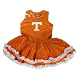 Glitter Gear Tennessee Volunteers Official NCAA Sleeveless Ruffled Skirt W/Bow Detail Princess Dress 3 T by