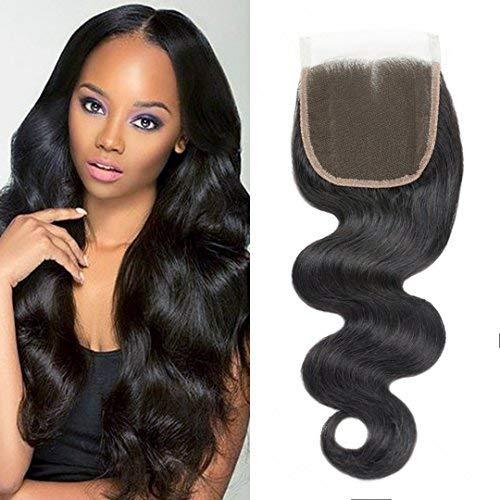 Brazilian virgin hair lace closure 4x4 lace closure human hair (12in, Body)