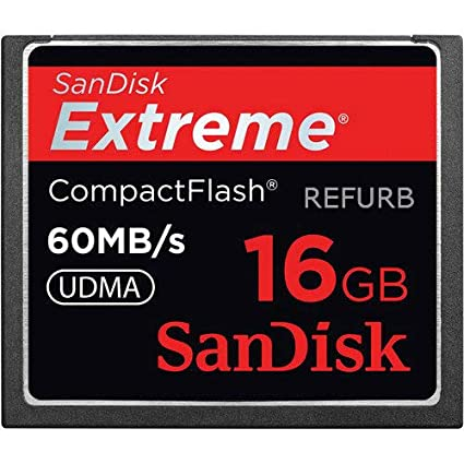 SanDisk Extreme 16GB Compact Flash CF Card 60MB/s SDCFX-016G-A61 (Renewed)