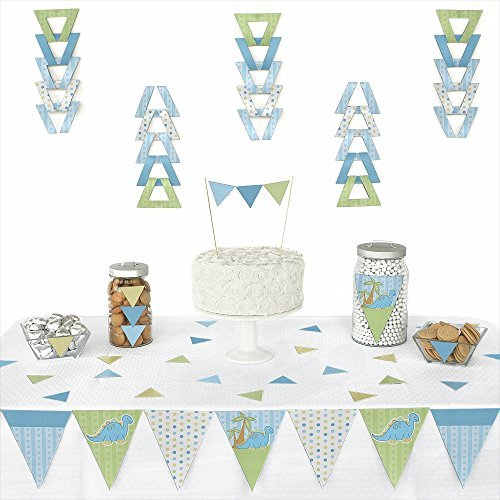 Baby Boy Dinosaur - Triangle Party Decoration Kit - 72 Pieces