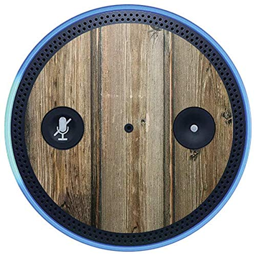 Skinit Wood Amazon Echo Plus Skin - Natural Weathered Wood Design - Ultra Thin, Lightweight Vinyl Decal Protection