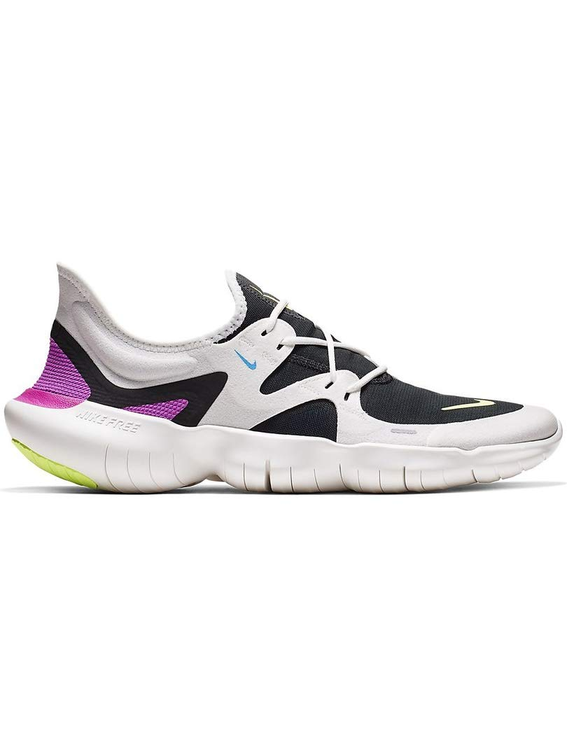 Nike Men's Free RN 5.0 Running Shoes (8.5, White/Volt) by Nike (Image #1)