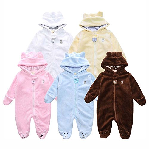 Buy Cheap Birdfly Baby Infant Full Body Winter Clothes Cozy Zip Up Hoodie Bear Romper Cute Ears Jump...