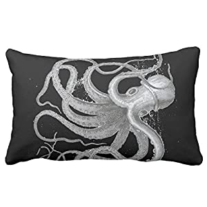 UOOPOO Design Nautical Steampunk Octopus Antique Vintage Kraken Pillowcases For Your Sofa Or Bedroom Decoration 12 x 20 Inches