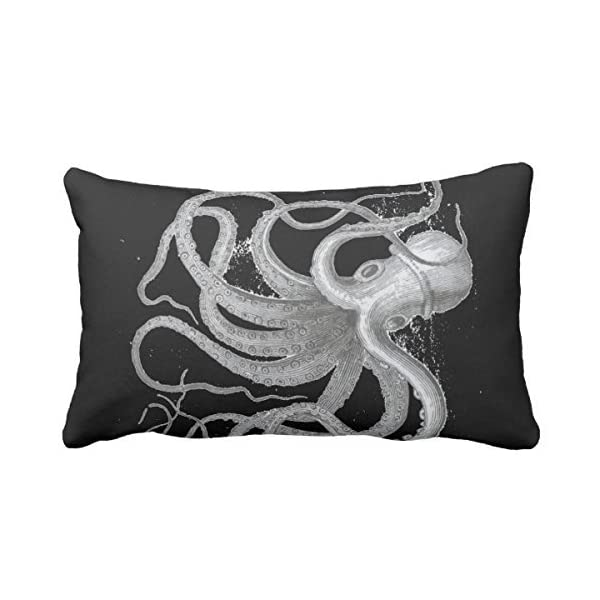 UOOPOO Design Nautical Steampunk Octopus Antique Vintage Kraken Pillowcases For Your Sofa Or Bedroom Decoration 12 x 20 Inches 2