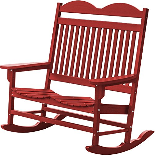 Wildridge Outdoor Recycled Plastic Traditional Double Rocking Chair - Ships in 10-14 Business Days