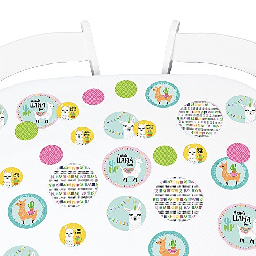 Big Dot of Happiness Whole Llama Fun - Llama Fiesta Baby Shower or Birthday Party Giant Circle Confetti - Party Decorations - Large Confetti 27 Count