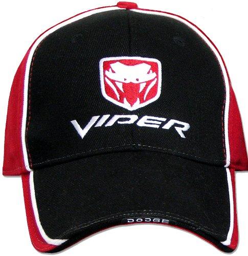 Dodge Viper Fine Embroidered Hat Cap, Black/Red ()