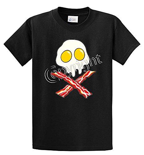 EGGS SKULL BACON CROSSBONES Printed Tee Shirt