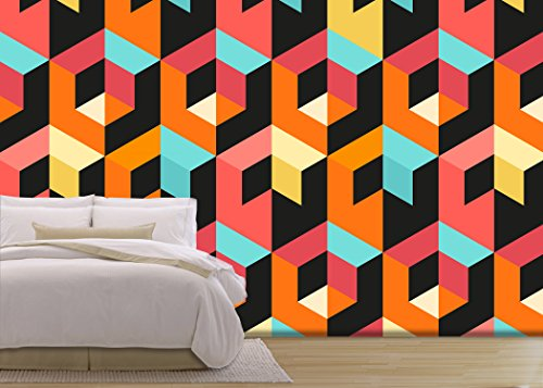 Vector Seamless Geometric Pattern Abstract geometric background design Vector illustration