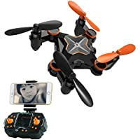 Mini Foldable RC Drone FPV VR Wifi RC Quadcopter with HD Camera AMENON 2-Speed Swtich Headless Mode Helicopter 2.4GHz 4CH 6 Axis Gyro Compatible Android IOS VR Headset Helicopter