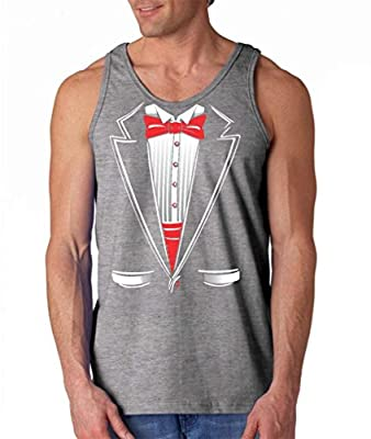 Shop4Ever® Tuxedo Funny Men's Tank Top Funny Tank Tops