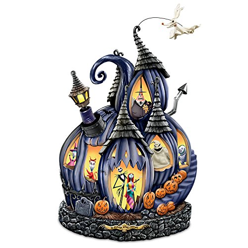 Disney Tim Burton's The Nightmare Before Christmas Masterpiece Pumpkin Sculpture by The Bradford (Nightmare Before Christmas This Is Halloween Tabs)