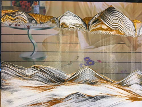Luv America Dynamic Liquid Moving Sand Art Picture. Sandscapes & Landscapes in Motion Decorative Display Painting for Home & Office Desktop Psychedelic Art Hourglass Decor Toys & Wedding Gifts 9