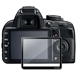eForCity LCD Screen Protector Glass Compatible with Nikon D3100