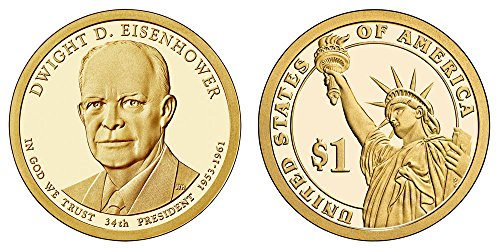 - 2015 S Dwight D. Eisenhower Presidential Proof Dollar PF1 US Mint