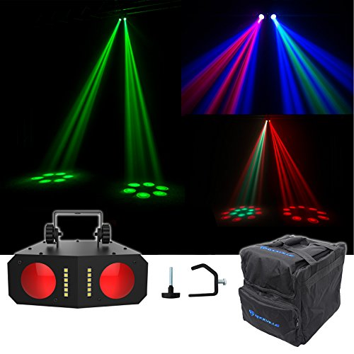 (Chauvet DJ Duo Moon LED Moonflower/Strobe Sound-Activated Effect Light+Clamp+Bag)