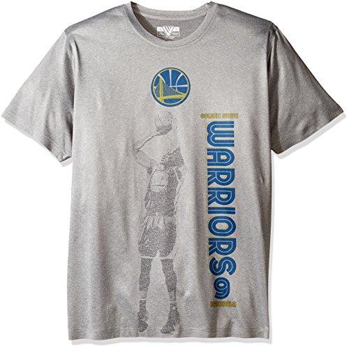 Levelwear NBA New York Knicks Adult Men Binary Player Tee,XL,Heather Pebble