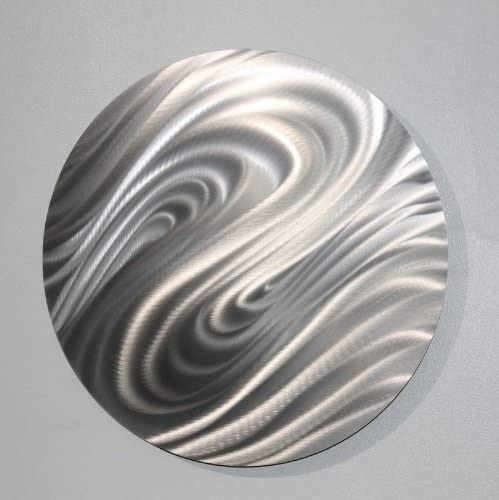 Statements2000 Abstract All Natural Silver Sleek Home Office Wall Decor