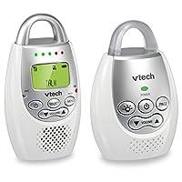 Monitor de audio para bebés VTech DM221 con hasta 1,000 pies de alcance, alerta de sonido vibrante, intercomunicador y bucle de luz nocturna